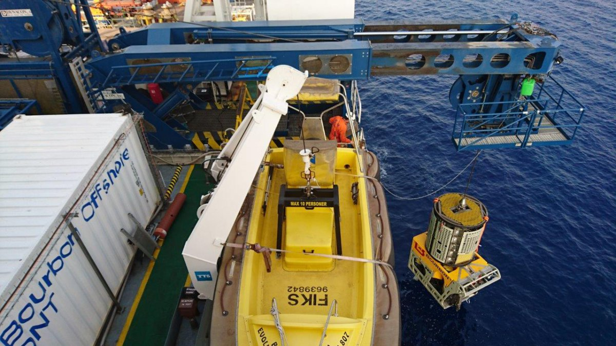 Launching of the HD ROV